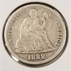 Seated Liberty Dimes in VF Condition