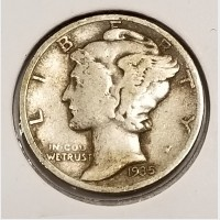 Mercury Dimes in VG Condition