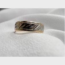 14K White and Yellow Gold Men's Band