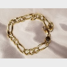 Men's 14K Gold Figaro Bracelet