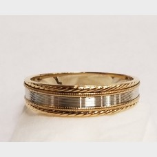 14K Men's Yellow and White Gold Ring