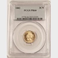 1882 3cN 3 Cent Nickel PCGS PR66