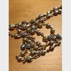 10k Mixed Gold Rosary