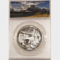 2016 5 oz ATB Theodore Roosevelt Silver Coin ANACS MS69