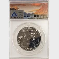 2018 5 oz ATB Voyageurs Silver Coin ANACS MS69