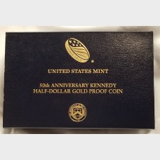 2014-W 50th Anniversary Kennedy Half Dollar Gold Coin Original Box and COA Half Dollar Proof US Mint