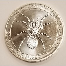 2015 Australia Funnel-Web Spider 1 ozt Silver Coin $1 Brilliant Uncirculated