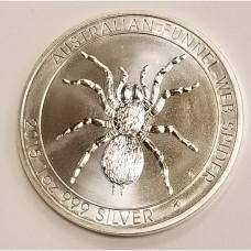 2015 Australia Funnel-Web Spider 1 ozt Silver Coin BU