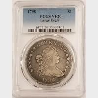 1798 Draped Bust Dollar PCGS VF20