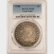 1798 Draped Bust Dollar PCGS VF20