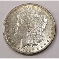 1900 O/CC Morgan Silver Dollar Cleaned Net AU50