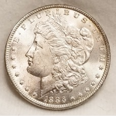 1886 Morgan Silver Dollar BU RAW