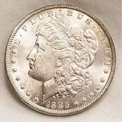 1886 Morgan Silver Dollar BU RAW