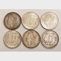 1921 Morgan Silver Dollar Single Coin $1 VF-AU RAW