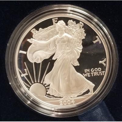 2004 W American Eagle 1 Ounce Bullion Coin $1 Proof US Mint