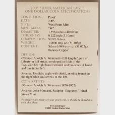 2005 W American Eagle 1 Ounce Bullion Coin $1 Proof US Mint