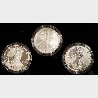 2006  American Eagle Three Coin Set 20th Anniversary Box & COA