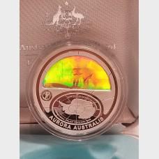 2009 Australian Aurora Australis Hologram Proof Coin $5 BU