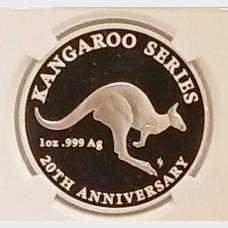 2013 AU Silver Australia Kangaroo 20th Anniversary $1 PR-70 NGC UCAM