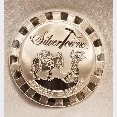 2015 SilverTowne 1 ozt Prospector Stackable Coin $1 Brilliant Uncirculated