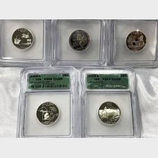 2004-S State Quarters ICG PR-69 5 Coin Set