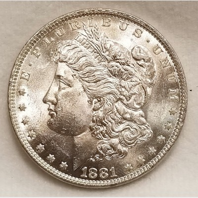 1881-O Morgan Silver Dollar BU RAW
