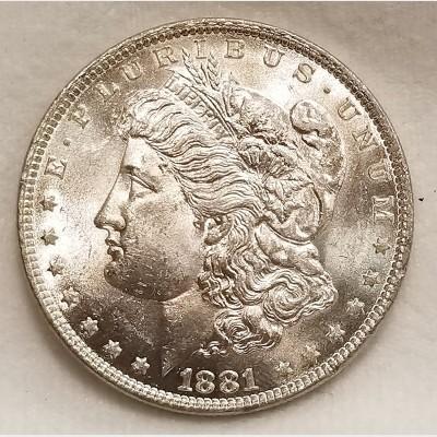 1881-O Morgan Silver Dollar BU RAW