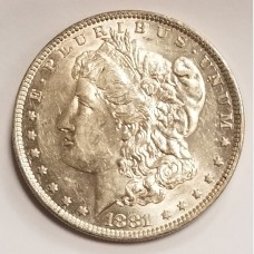 1881-O Morgan Silver Dollar AU RAW