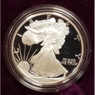 1990 S American Eagle 1 Ounce Bullion Coin $1 Brilliant Uncirculated US Mint