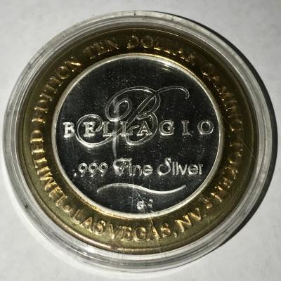 Bellagio .999 Fine Silver Andy Warhol Ten Dollar Token