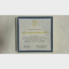 1973 20 Balboas Silver Proof Coin - 3.85 Oz. Silver - w/ COA Republic of Panama