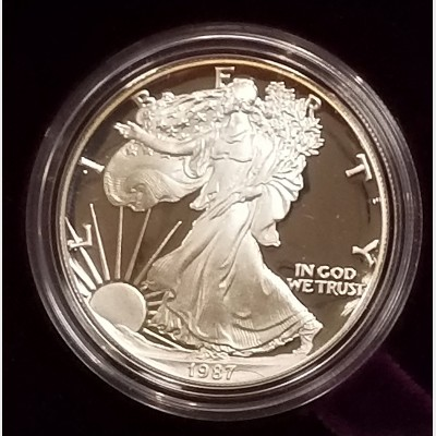 1987 S American Eagle 1 Ounce Bullion Coin $1 Brilliant Uncirculated US Mint