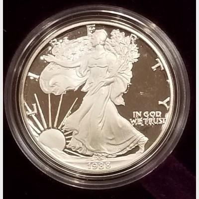 1988 S American Eagle 1 Ounce Bullion Coin $1 Brilliant Uncirculated US Mint