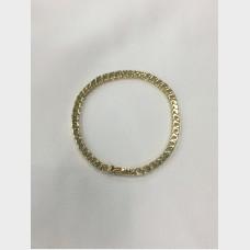 14 K Yellow Gold and Diamond Tennis Bracelet