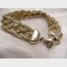 LaDea Bendata Sterling Silver Mesh Braided Bracelet
