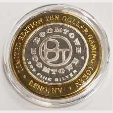 Boomtown Limited Edition $10 Silver Gaming Token Cowboy Boot