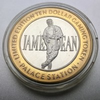 Palace Station Hotel and Casino $10 Gaming Token .999 Fine Silver