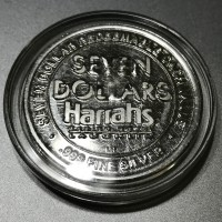 Harrah's Hotel and Casino Laughlin $7 Gaming Token .999 Fine Silver