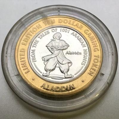 Aladdin Resort and Casino $10 Gaming Token .999 Fine Silver