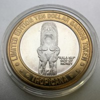 Tropicana Hotel and Casino $10 Gaming Token .999 Fine Silver