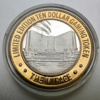 The Mirage Las Vegas $10 Gaming Token .999 Fine Silver
