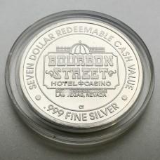 Bourbon Street Hotel & Casino $7 Gaming Token .999 Fine Silver