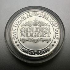 Golden Nugget Hotel & Casino $7 Casino Silver Casino Token .999 Fine Silver