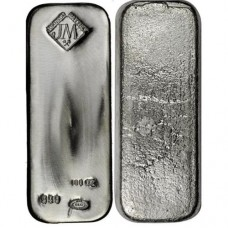 Johnson Mathey Silver 100 ozt Bar