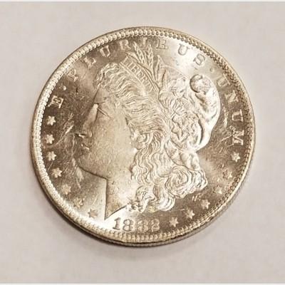 1882-O Morgan Silver Dollar BU RAW