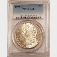 1900-O Morgan Silver Dollar PCGS MS64