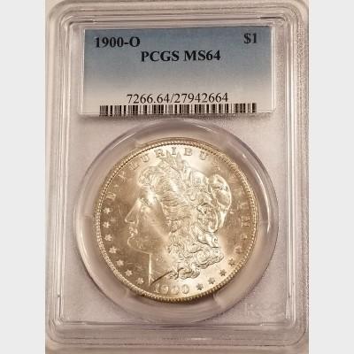 1900-O Morgan Silver Dollar PCGS MS64