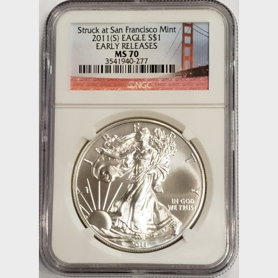 2011(S) Silver American Eagle NGC MS70