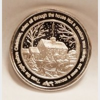 Christmas Santa Clause 1 oz .999 Fine Silver Bullion Coin
