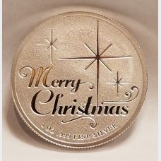 Christmas Winter Scene 1 oz .999 Fine Silver Bullion Coin